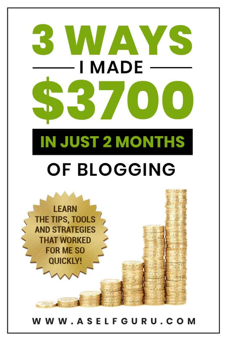 How I Made $3,700 Blogging in My First Two Months