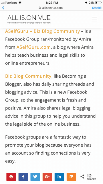 Join ASelfGuru - Biz Blog Community on Facebook