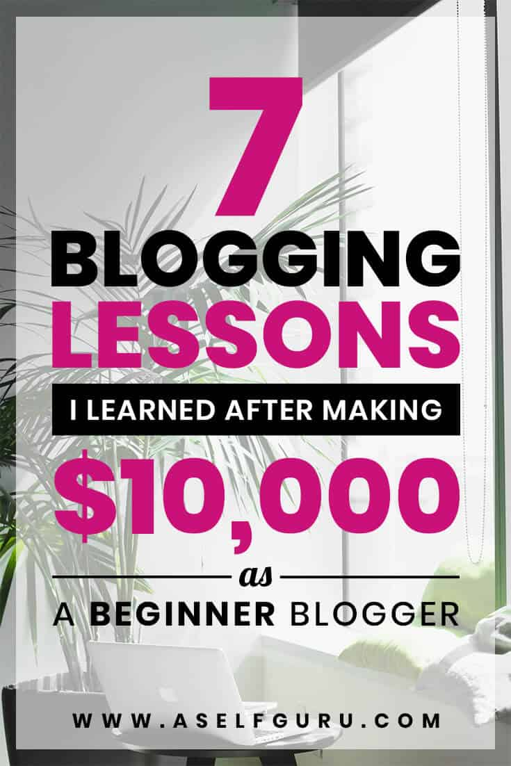 7 blogging mistakes and blogging lessons for beginner bloggers