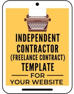 Independent contractor agreement freelance contract template for your bu