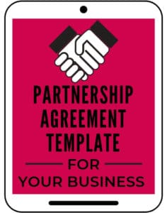 Partnership agreement template for business
