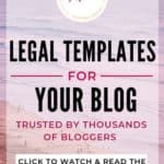 legal templates for blogs and websites privacy policy