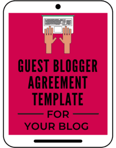 Guest Blogger Agreement template aselfguru amira law legal templates