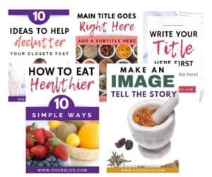 Pinterest templates bundle