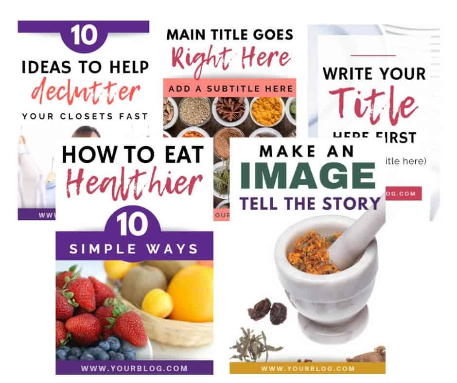 Pinterest templates bundle