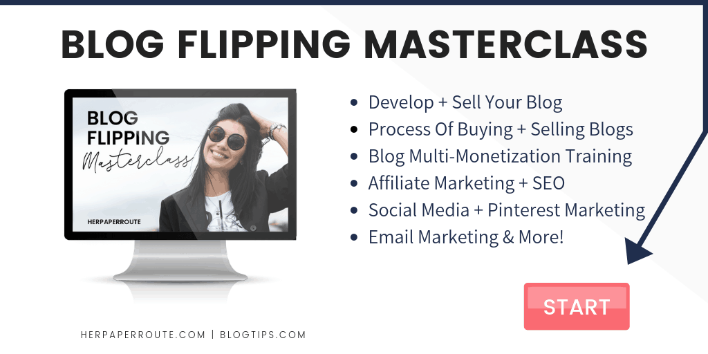 Blog Flipping Course HerPaperRoute