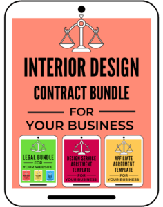 Interior Design Contract Bundle Templates