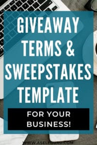 Sweepstakes template giveaway contest terms and conditions
