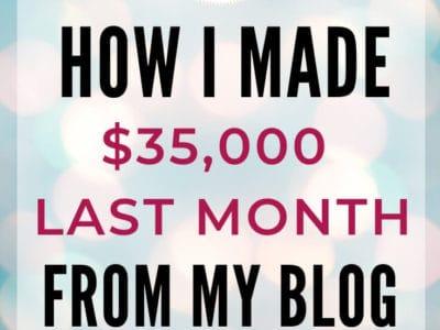 Make money blogging for beginners $35K