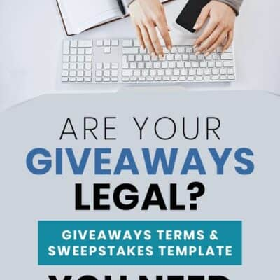 Sweepstakes Template, Giveaways and Contest Terms and Conditions