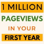 get 1 Million pageviews website