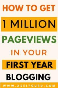 get 1 Million pageviews website