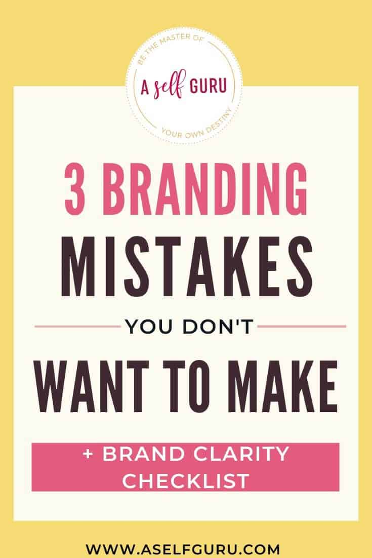 Top 3 Branding Mistakes + Brand Clarity Tips