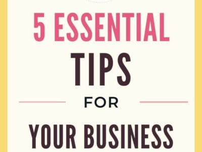 5 Essential Business Tips