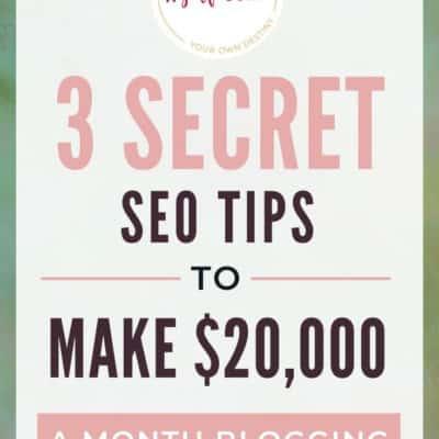 Secret SEO Tips to Make $20,000 a Month Blogging: Interview with Debbie Gartner