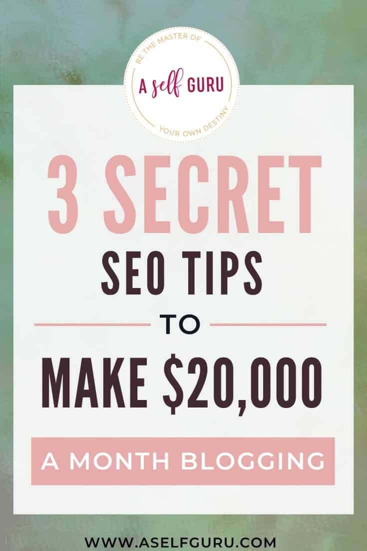 SEO tips to make money blogging