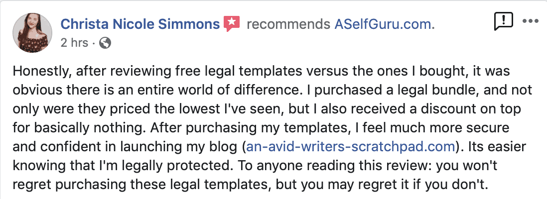 Free legal templates don't protect your business
