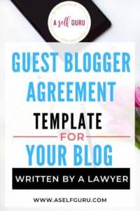 Guest Blogger Agreement Template