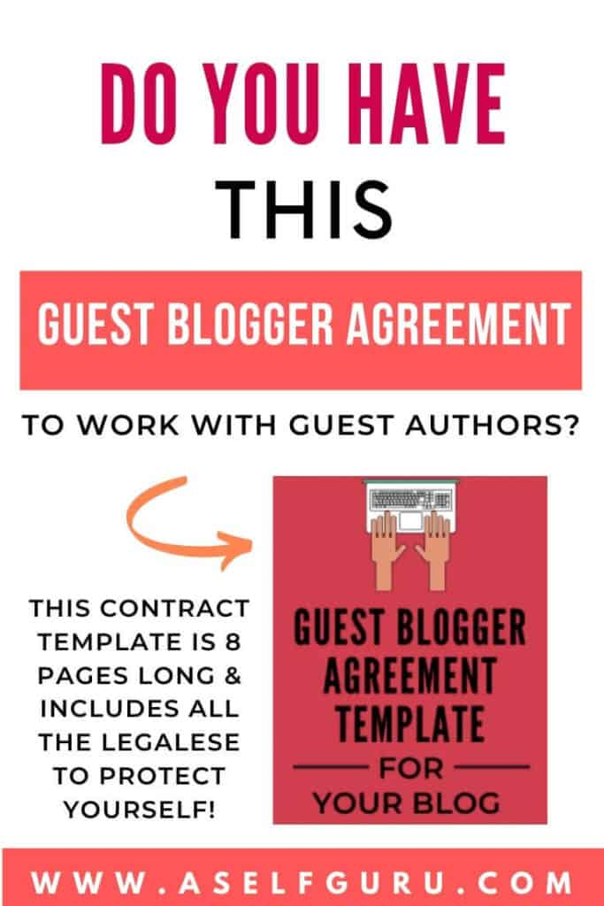 Guest Blogger Agreement Template