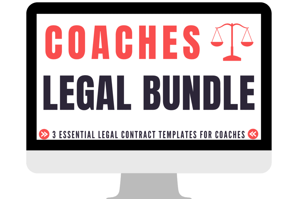 Coaching agreement, contracts for coaches bundle