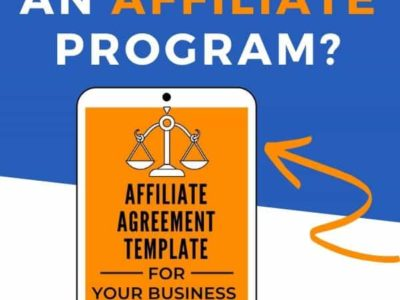 Affiliate program agreement template