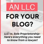 LLC business tips for bloggers