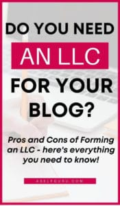 pros and cons of forming an LLC for bloggers-