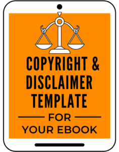 copyright notice and disclaimer template for ebook