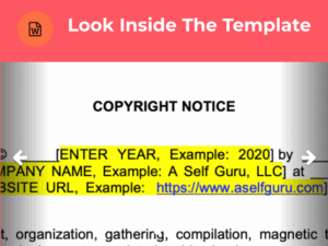 copyright and ebook disclaimer template