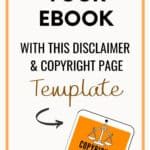 ebook template disclaimers and copyright page