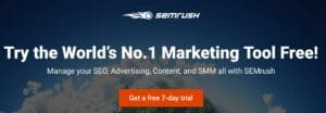 SEMrush trial