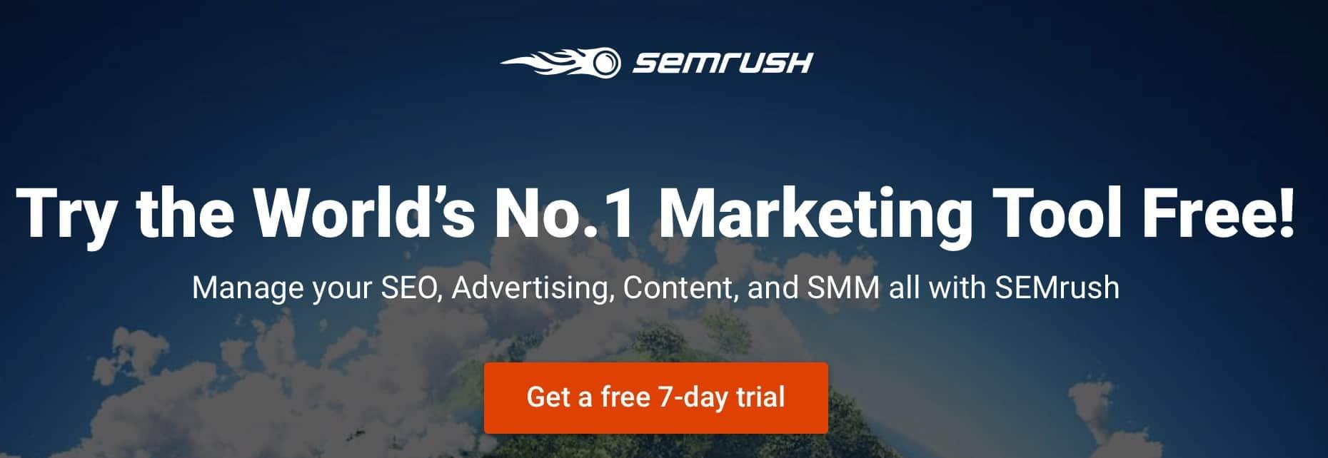 SEMrush trial