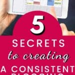 secrets to creating a blogging schedule