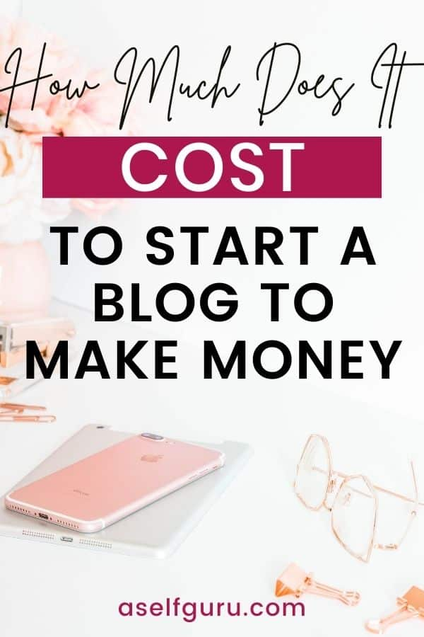 how much does it cost to start a blog to make money