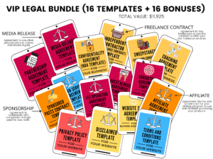 VIP legal bundle ASelfGuru Amira legal templates