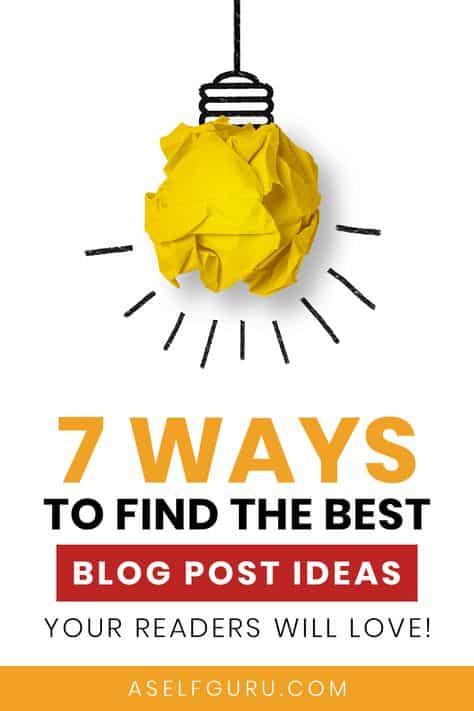 Blog post ideas you'll love