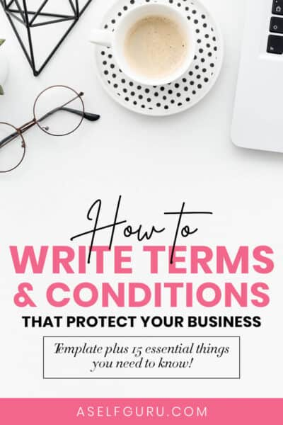 how to write terms and conditions for your website