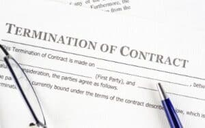 virtual assistant contract template termination of contract