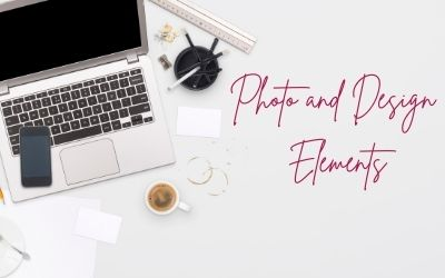 laptop and cup of coffee - photo and design elements