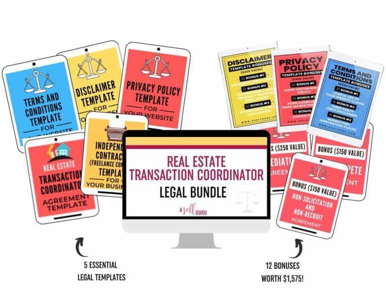 real estate transaction coordinator bundle
