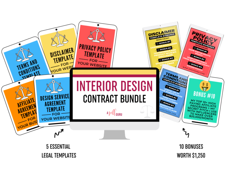 Interior Design Contract legal bundle