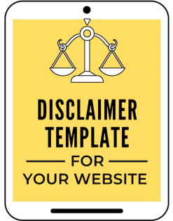 disclaimer template for your website