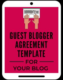 Guest Blogger Agreement template aselfguru amira law legal templates
