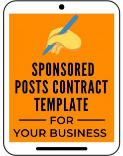 Sponsored posts contract template