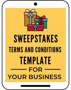 Sweepstakes terms and conditions template sweepstakes template