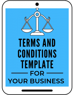 Terms and Conditions template for website and online business