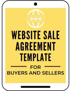 Website sale and purchase agreement template for buyers and sellers